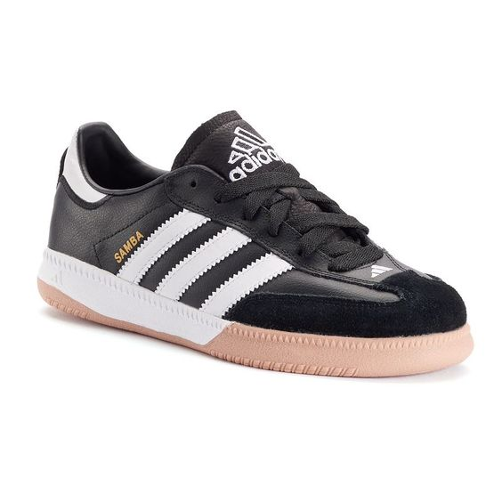 Adidas Samba Milenio Boys indoor soccer zapatos, chico, tamaño: 4, negro