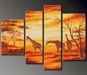 cuadro-paisaje-africano-jirafas.jpg (300×257)