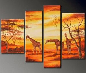cuadro-paisaje-africano-jirafas.jpg (300×257): Canvas Wall, Art Paintings, Stretch Painting, Canvas Paintings, African Animal, Oil Painting, Painting Decoration