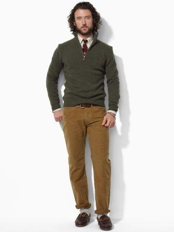 Lambswool Half-Zip Sweater - Polo Ralph Lauren Half-Zips - RalphLauren.com