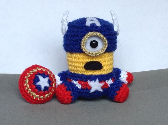 Minion Captain America Amigurumi : Captain america, Amigurumi and Minions on Pinterest