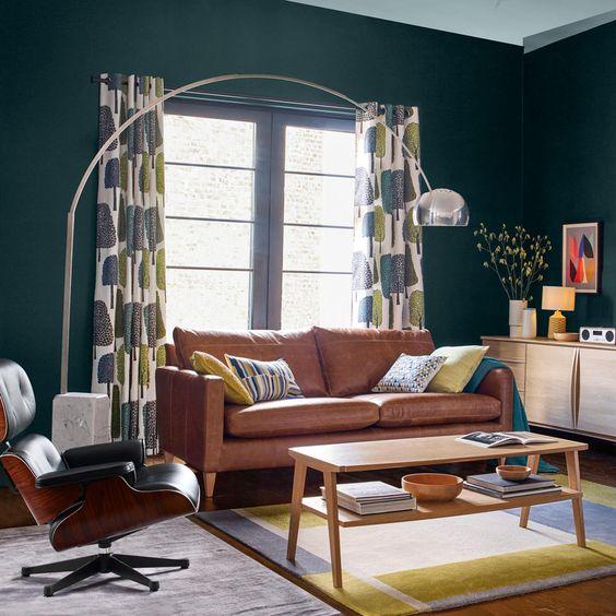Phòng khách ấn tượng khi mua sofa da tphcm với gam màu tươi mới