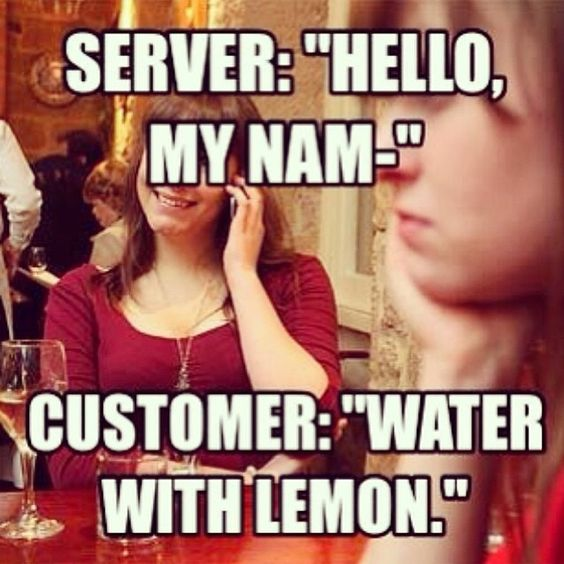 How many times does this happen to you in a shift? #serverlife #serverproblems