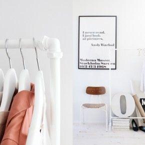 diy: garderobe aus kupferrohr | for the home | pinterest | diy and, Innenarchitektur ideen