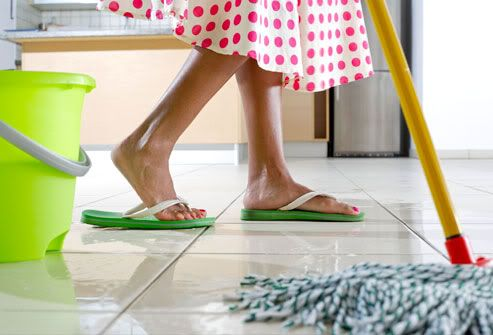 Homemade, non-toxic cleaning products for your house! My favorite is using a vinegar solution as an AP cleaner