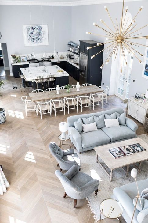 20 Stunning Open Plan Kitchen And Living Room Design Ideas Design Ideas Ki Design Ideas Kitchen L In 2020 Living Room Designs Living Room Decor Room Design