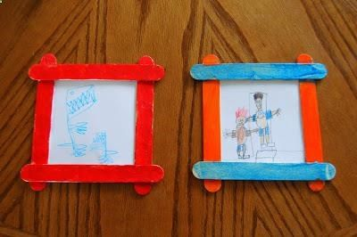 Dad and Me Pictures with Frames - Father's Day Craft