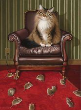 Braldt Bralds Chair Purrson Open Edition Giclee on Canvas
