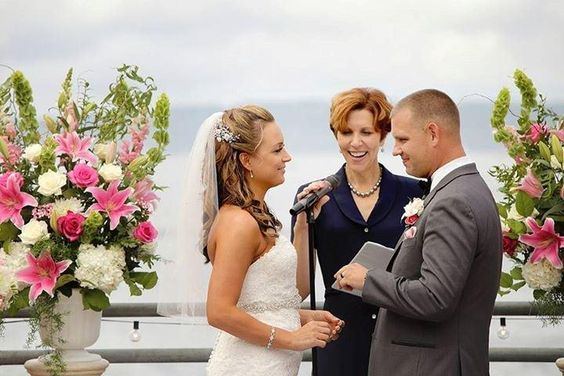 Aaron and Danelle, married at Ray's Boathouse, August 2015.  Officiant:  Annemarie Juhlian