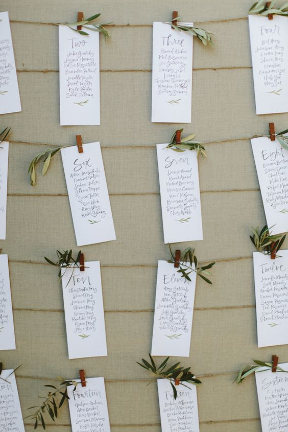 Rustic escort cards: http://www.stylemepretty.com/2016/05/10/instyle-fashion-editor-real-wedding/ | Photography: Paige Jones - http://paigejones.us/