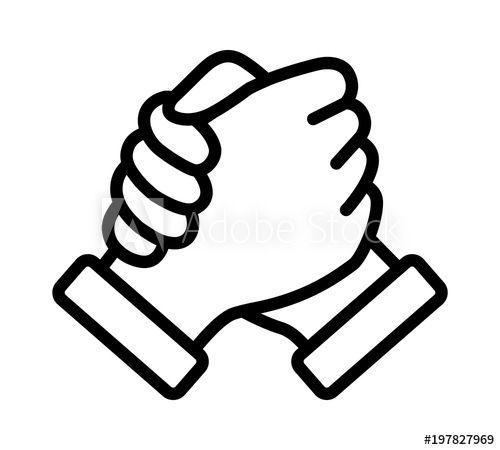 Soul Brother Handshake Thumb Clasp Handshake Or Homie Handshake Line Art Vector Icon For Apps And Websites In 2021 Line Art Vector Hand Logo Handshake Logo