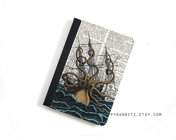 Steampunk Kraken Octopus iPad Air leather case  by happyrabbitz, $29.00