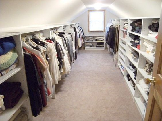 Ankleidezimmer dachschräge  walk in wardrobe with eaves - Google Search | Walk In Wardrobe ...