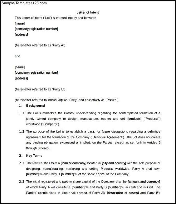 sample business partnership letter the best partner termination - letter of intent for business sample