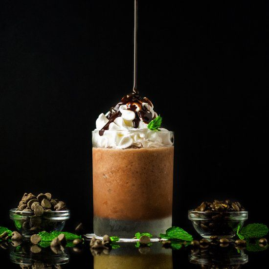 Copycat Mocha Frappe is a great way to use up leftover coffee. Using leftovers never felt so good!Naturally Gluten Free.