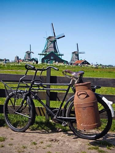 It is typical dutch to cycle. It is common in the Netherlands to cycle when you have to go somewhere not to far.