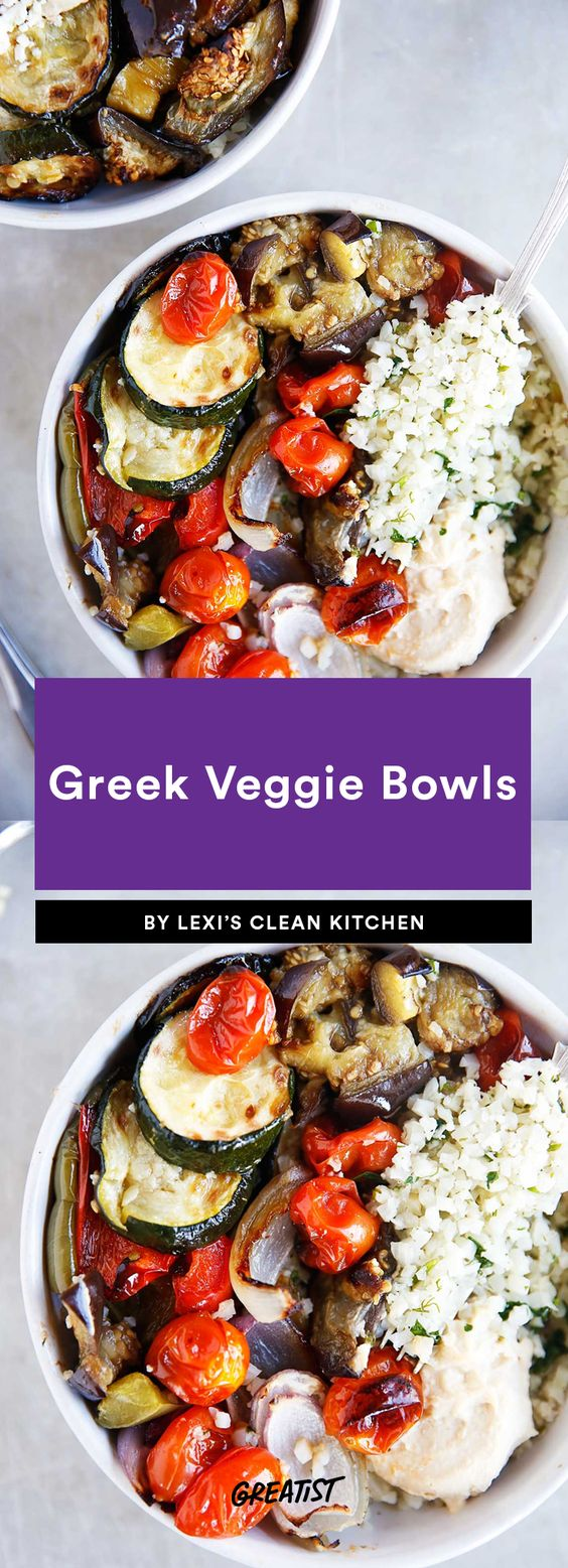 Greek Veggie Bowls