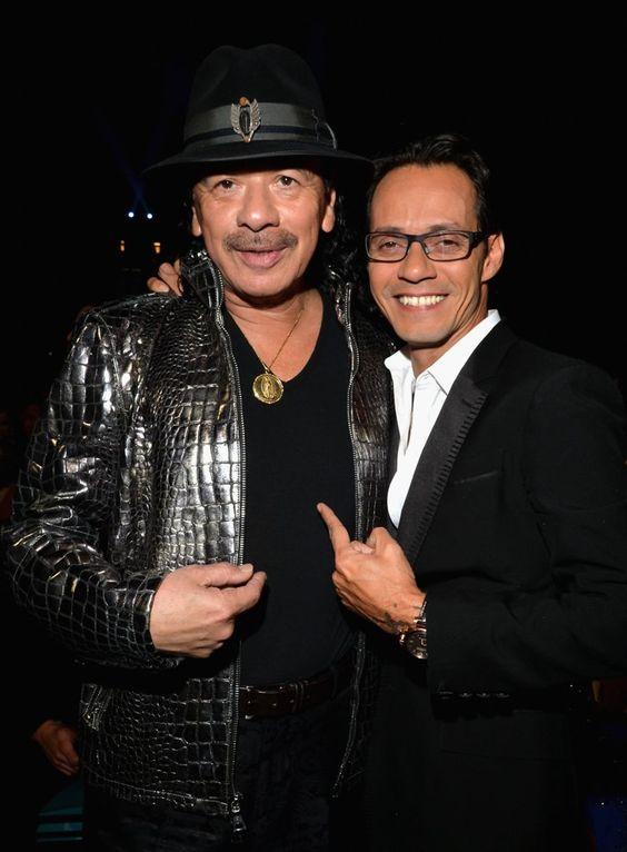 Pin for Later: Les Photos People de la Semaine à ne Pas Manquer  Carlos Santana et Marc Anthony ont posé pour des photos lors des Latin Grammy Awards à Las Vegas.