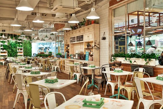 Obed bufet self service restaurant spb russia design by g