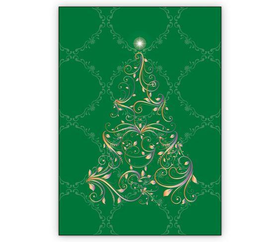 Edle Weihnachtskarte mit ornamentalem Weihnachtsbaum - http://www.1agrusskarten.de/shop/edle-weihnachtskarte-mit-ornamentalem-weihnachtsbaum/    00000_1_2426, Grusskarte, Klappkarte Rentier, Santa Sterne, Schneemann, Tanne, Weihnachtsbaum Engel, Weihnachtsmann, Winter00000_1_2426, Grusskarte, Klappkarte Rentier, Santa Sterne, Schneemann, Tanne, Weihnachtsbaum Engel, Weihnachtsmann, Winter