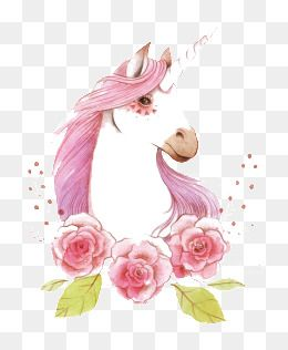 Unicorn Dream Fairy Tale Illustration Cartoon Hand Painted Literature And Art Fresh Child Fairy Tale Hand Pa Flower Drawing Unicorn Wallpaper Flower Silhouette
