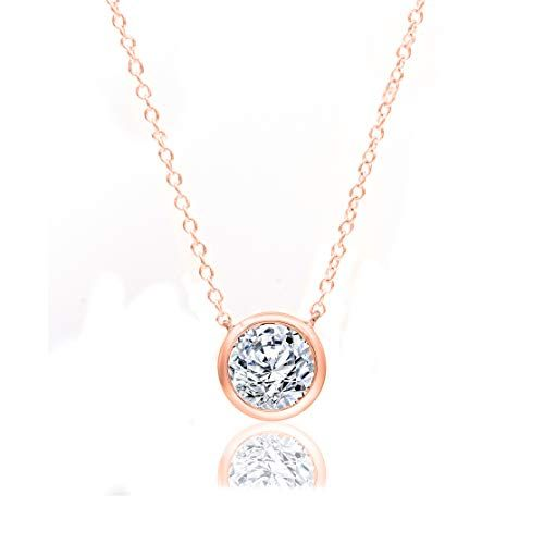Check This 1 3 Carat Natural Diamond Necklace 10k Rose Gold Pendant Necklace Jewelry In 2020 Diamond Necklace Women Diamond Jewelry Gifts