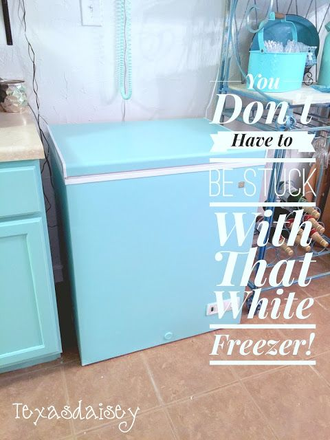 Texasdaisey Creations: You Don't Have To Be Stuck With That White Freezer