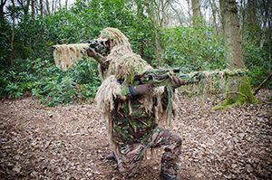 Father & Son Sniper Team at Woodoak Wilderness, Surrey, England UK. www.woodoak.co.uk