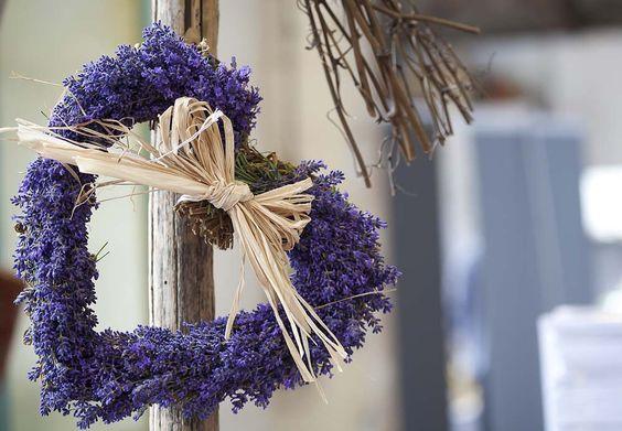 Lavender heart wreath - Lavender festival at Castle Farm, Shoreham, Kent