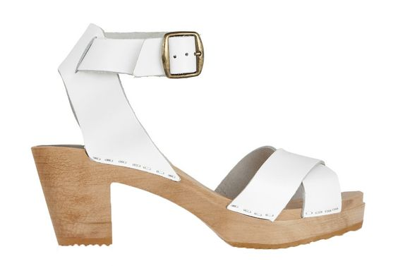 921 funkis ankle strap clog high white