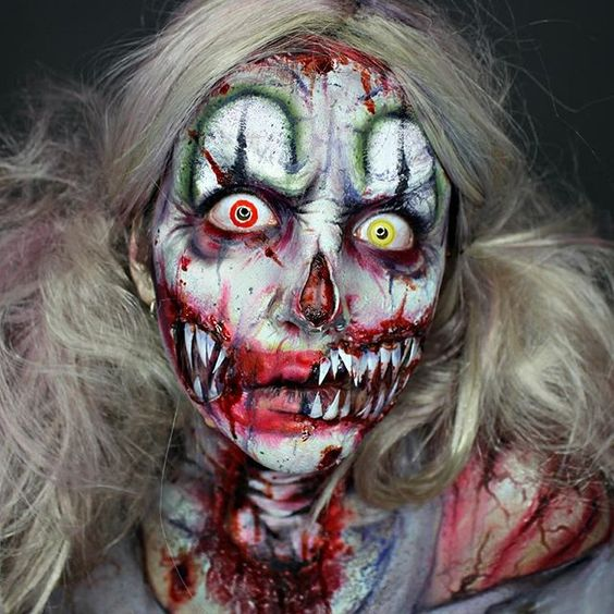 Close-up of Zombie Clown!