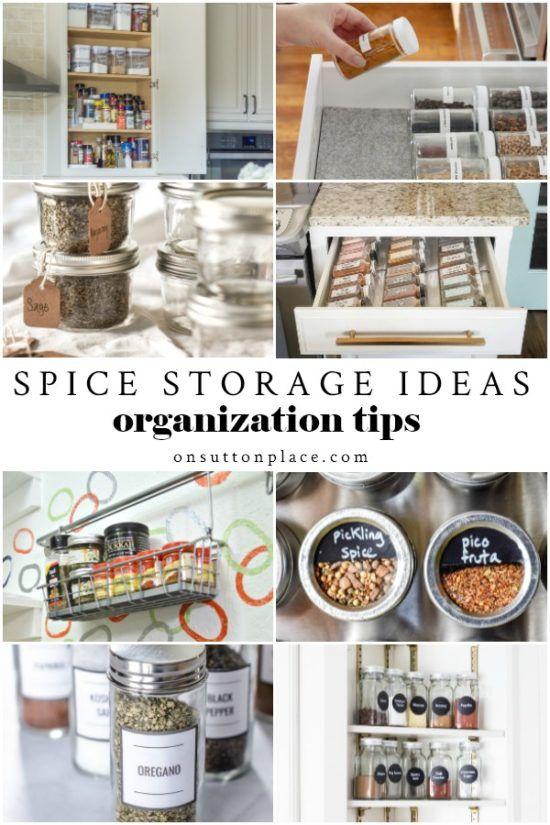 Spice Storage Ideas 8 Ways To Organize Your Spices Spice Storage Spice Storage Containers Spice Rack Storage