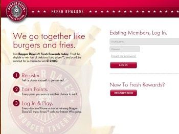 Bagger Dave's Fresh Rewards Sweepstakes