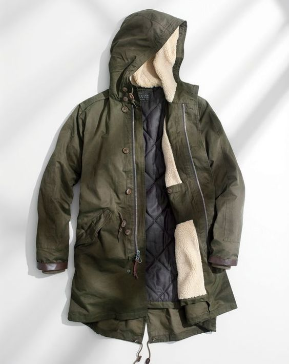 SEP '15 Style Guide: J.Crew men's hooded fishtail parka with Primaloft®.