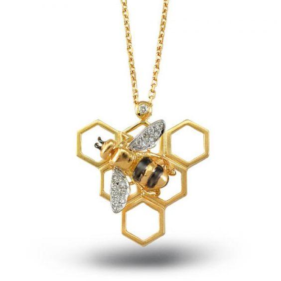 NG - Fauna in Nature - Arı Kolye  Zen diamond