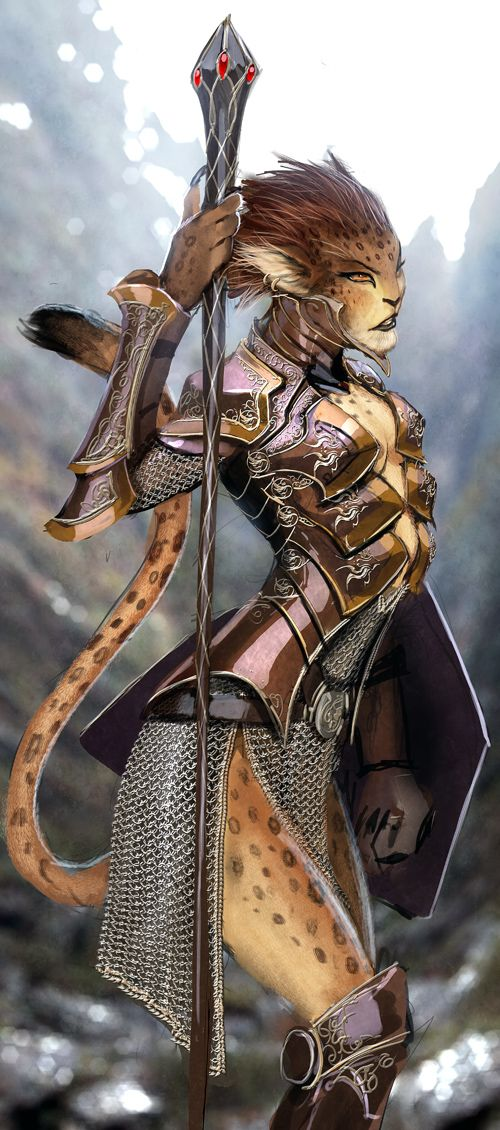 Feline race Female Warrior.: