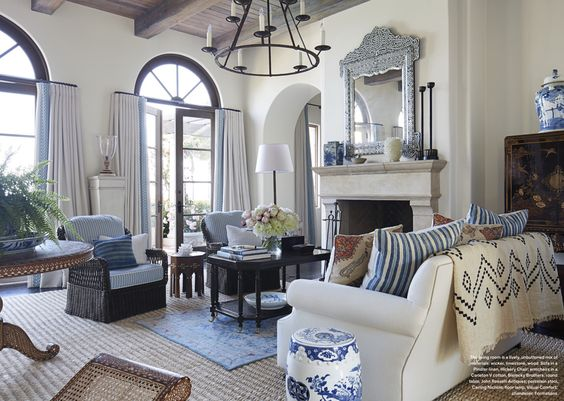 D window treatments and karen o 39 neil on pinterest for Mark d sikes living room
