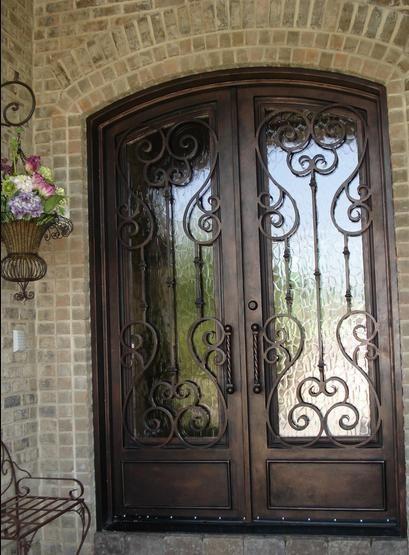 wrought iron door For the Home Pinterest Taches, Planters et - Oeil De Porte D Entree