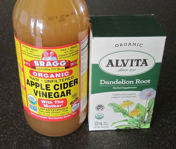 Flush out the bloat with Apple Cider Vinegar and Dandelion Root tea