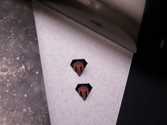 IX. [COPPER] You shall look ahead. Earrings / Size: 20 x 19mm