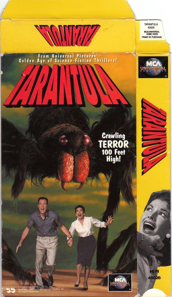 TARANTULA with John Agar and Maria Corday (1955) VHS box