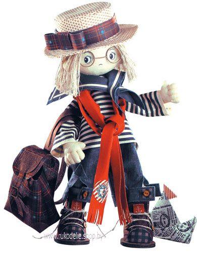 Текстильная каркасная кукла Том К1029