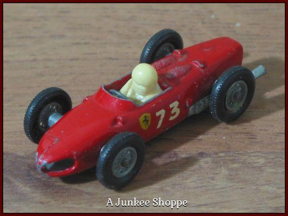 MATCHBOX LESNEY Farrari F1 Racer No. 73 1962 With Driver No Box  Junk0900  http://ajunkeeshoppe.blogspot.com/