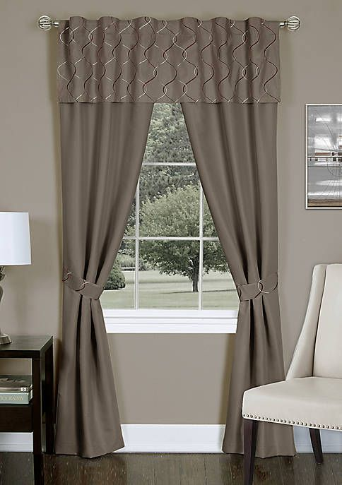 Trellis 5 Piece Window Curtain Set Curtains Vintage Curtains