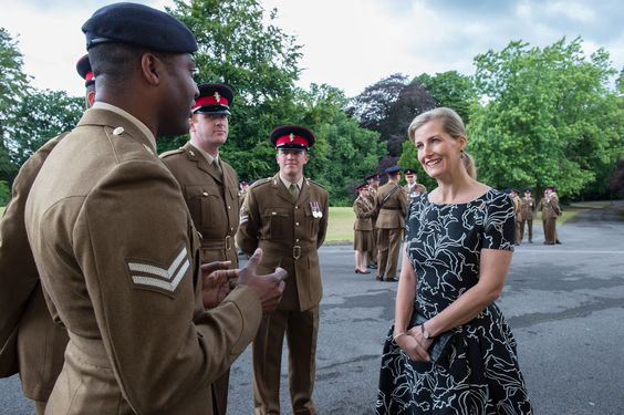 The Countess of Wessex at Royal Military Academy Sandhurst July 2016
