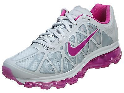 Nike Air Max 2011 Womens 684531-004 Platinum Fuchsia Running Shoes Wmns Size 6.5