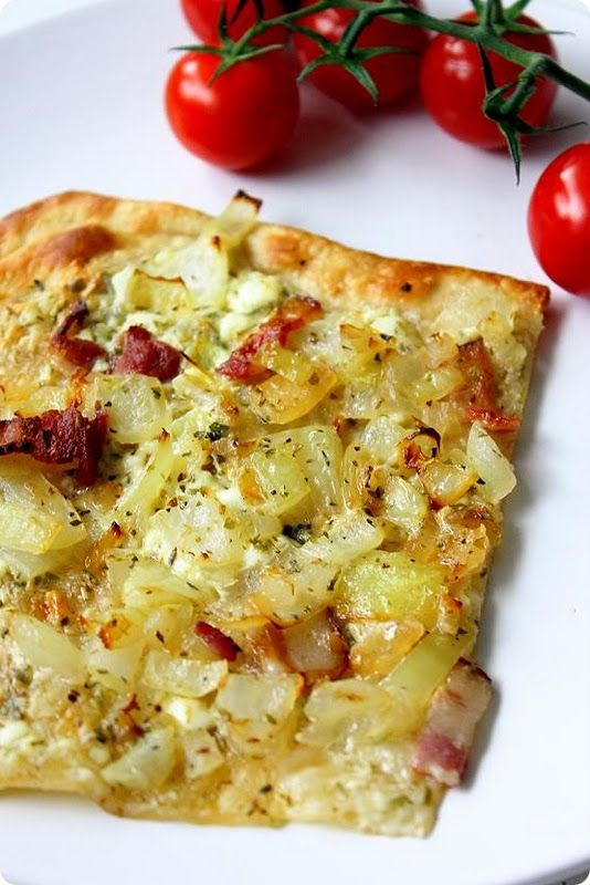 Tarte flambée is my absolute Favorite French food!!! Perfect with a kir cassis :)