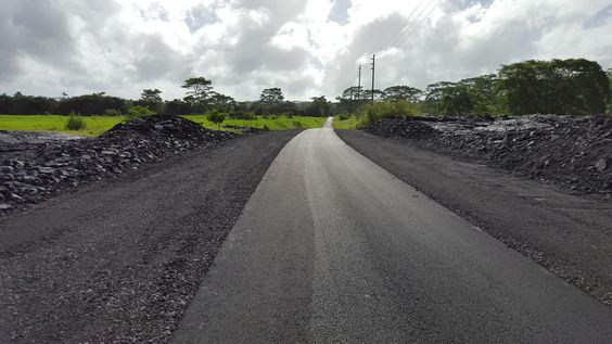 Cemetery Road in Pahoa has been cleared of the June 27th lava flow