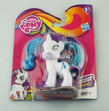 """3"""" Hasbro My Little Pony Rainbow Power Rarity card Friendship Is Magic Toy"""