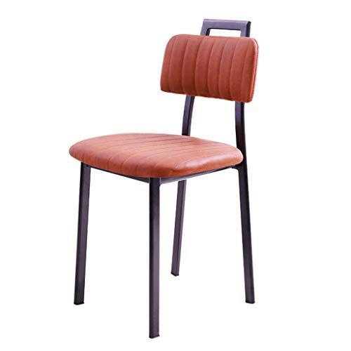 Nordic Dining Chair Home Wrought Iron Restaurant Seat Simple